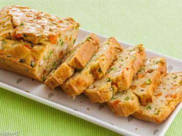 Cake aux langoustines et aux petits légumes