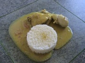 Poulet sauce curry gingembre et coco