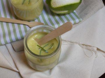 Gaspacho petits pois et citron vert