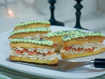 Eclairs wasabi et saumon