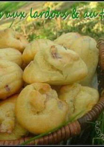 Des madeleines salées, aux lardons & au thym