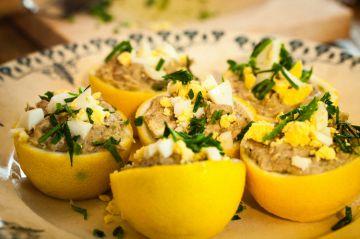 Citrons farci à la crème de thon