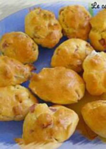 Madeleines salées jambon-olives