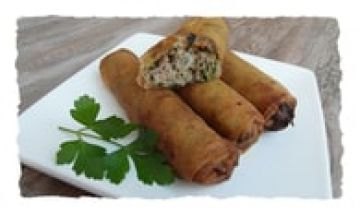 Cigares au thon et coriandre