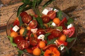 Melon en salade aux tomates cerises
