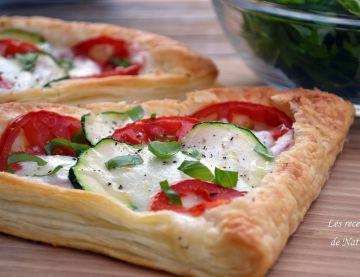 Feuilletés aux courgettes, tomates et mozzarella, facile