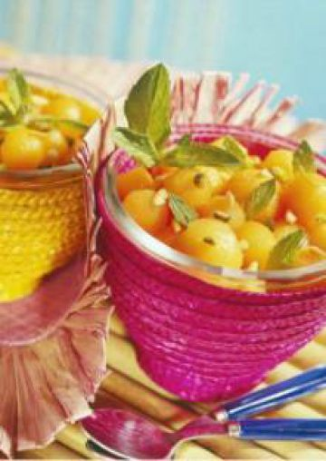 Salade de melon aux fruits secs