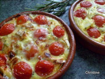 Flan aux tomates cerises et romarin