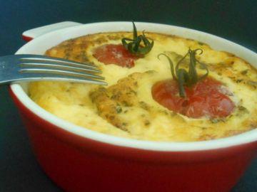 Clafoutis tomates & mozzarella