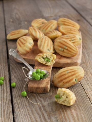 Madeleines aux petits pois