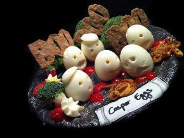 Halloween casper eggs