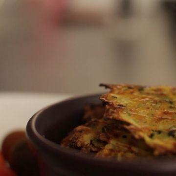 Chips carotte/courgette au parmesan