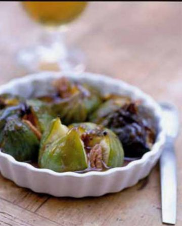 Figues roties au caramel