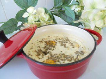 Oeuf cocotte roquefort et thym