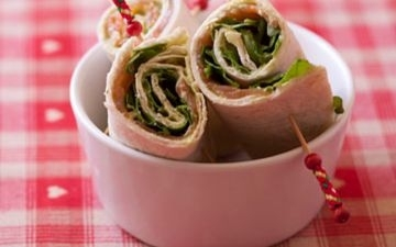 Wrap saumon roquette simple