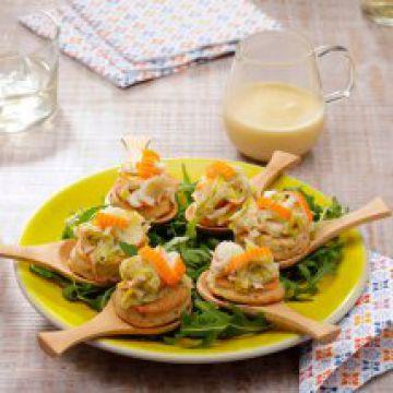 Biscuits à la fondue de Surimi, poireaux et beurre blanc nantais