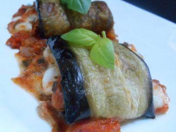 Aubergines roulées tomate & mozzarella