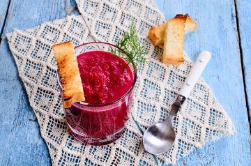 Crème de betteraves sucrée-salée