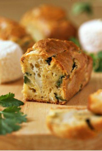 Cake aux courgettes et au fromage de chèvre