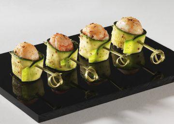 Bouchées de concombre aux crevettes  apéritif