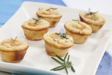 Mini muffins aux crevettes roses et curry maison