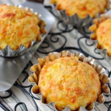 Muffins à la roquette et au parmesan