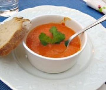 Crème de poivrons rouges au mascarpone