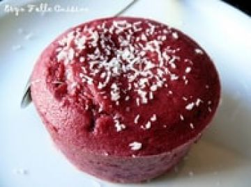 Moelleux framboise, coeur coulant chocolat blanc