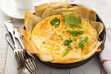 Clafoutis qui croustille aux fromages