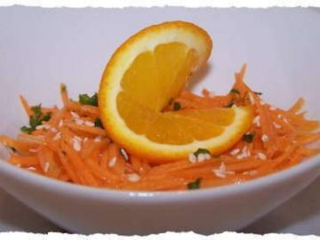 Salade de carottes à l'orange